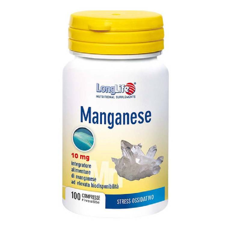 LONGLIFE MANGANESE 10MG 100CPR